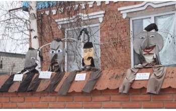 Ростовые куклы на Большой Даниловке в Харькове