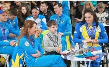 Чествование паралимпийцев в Харькове