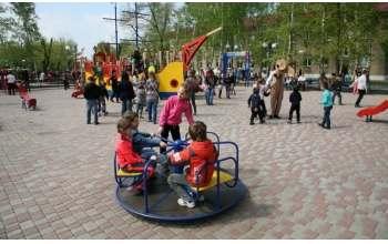 Обновленный парк отдыха железнодорожников в Купянске