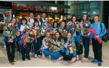 Как в Харькове чемпионок встречали