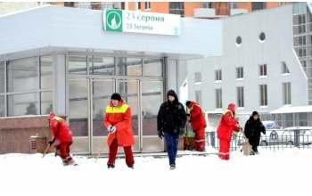 Харьков засыпает снегом