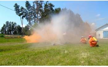Учения по ликвидации лесных пожаров в Харьковской области